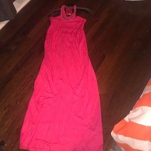 Juicy Couture halter maxi dress
